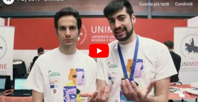Video ufficiale Unimore Play 2019
