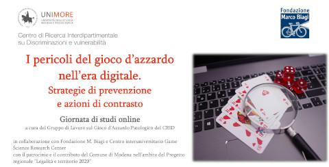 [14-12-2020] I pericolo del gioco d'azzardo digitale. Strategie e prevenzione ed azioni di contrasto